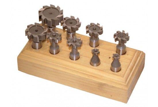 Fräsjärn till trä 9 delar, Holzmann