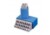 Bokstavsstämpler i sats (A-Z) 15 mm i plastlåda (27 st)
