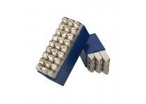 Bokstavsstämpler i sats (A-Z) 2 mm i plastlåda (27 st)