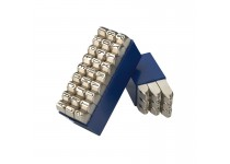 Bokstavsstämpler i sats (A-Z) 3 mm i plastlåda (27 st)