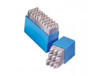 Bokstavsstämpler i sats (A-Z) 4 mm i plastlåda (27 st)