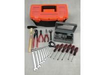 Værktøjskasse med 67 dele