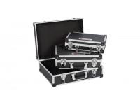 Aluminiums kuffertsæt sort 3 dele