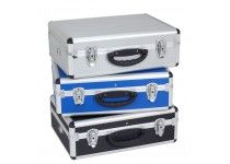 Aluminiums kuffert - blå 460x330x160 mm