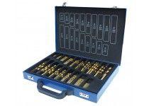 Borrset 1-10mm TiN-överdragna 170 st, Holzmann