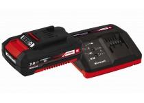 Sæt med oplader og batteri 18 V 2,0 Ah P-X-C