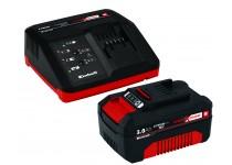 Power X-change startpaket med laddare og batteri Einhell 18 V 3,0 Ah P-X-C