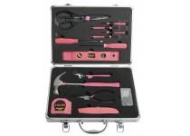 Dameværktøjssæt - 14 dele Pink