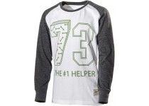 T-shirt 353b grå/vit 98/104