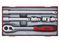 """Spärrhandtagssats med 1/2"""" □-fäste Teng Tools TT1205 5 delars"""