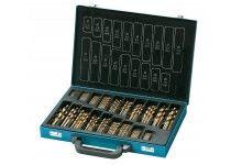 130 pcs. set TiN-coated HSS drills