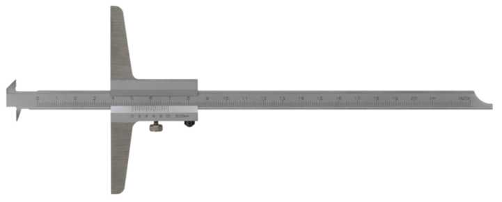 Dybdemål m.dubbla hakar 200mm