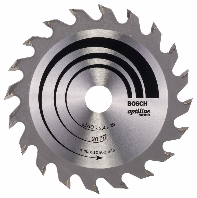 Køb Optiline Wood Cirkelsågsklinga 140 x 20/12,7 x 2,4 mm, 20