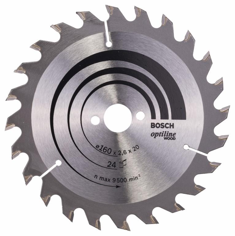 Køb Optiline Wood CirkelsÃ¥gsklinga 170 x 30 x 2,6 mm, 24