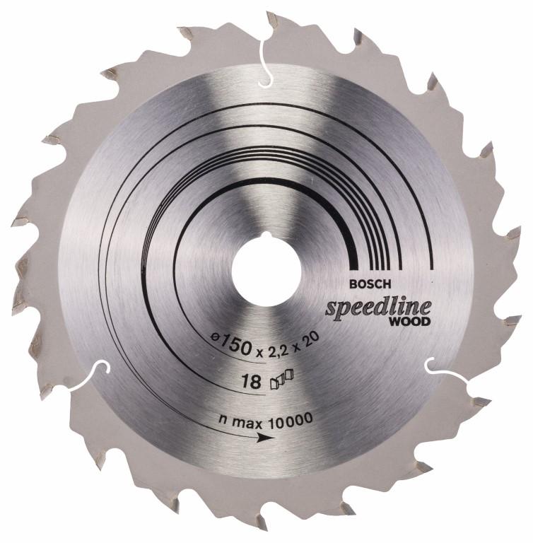 Køb Speedline Wood Cirkelsågsklinga 150 x 20 x 2,2 mm, 18