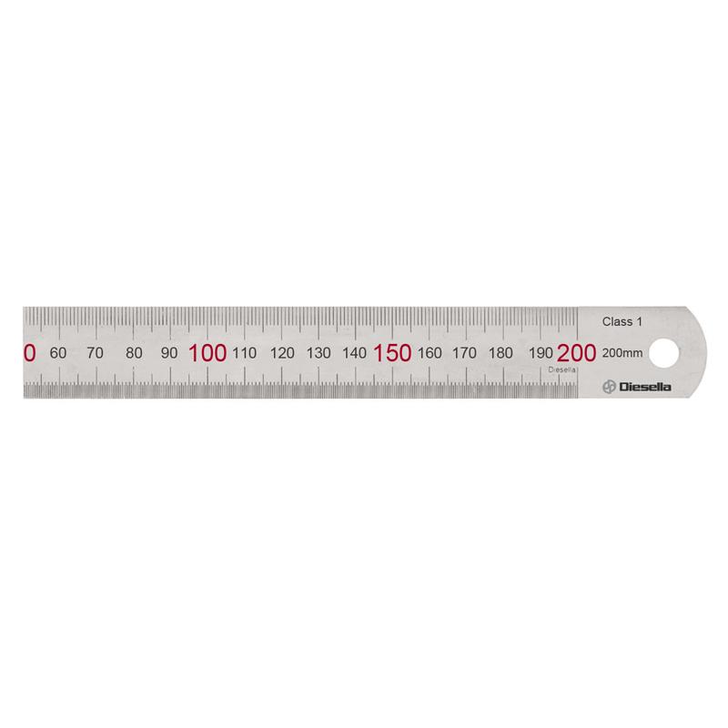 Diesella Stållineal 200X19X0,8 mm