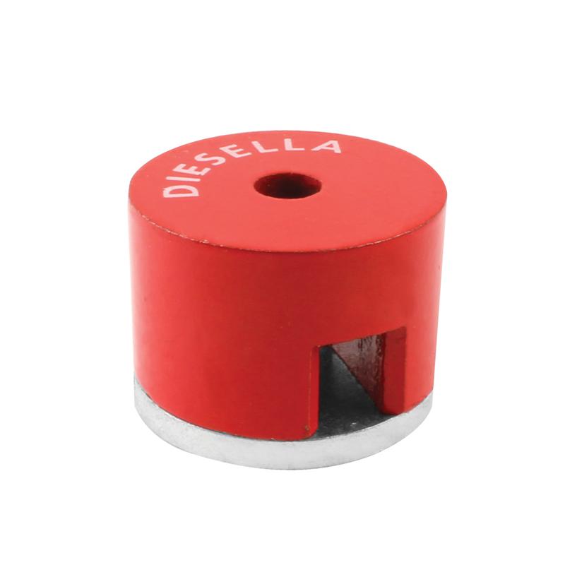 Diesella Alnico Knapp magnet 12,7 mm med Ø4,5 mm hål