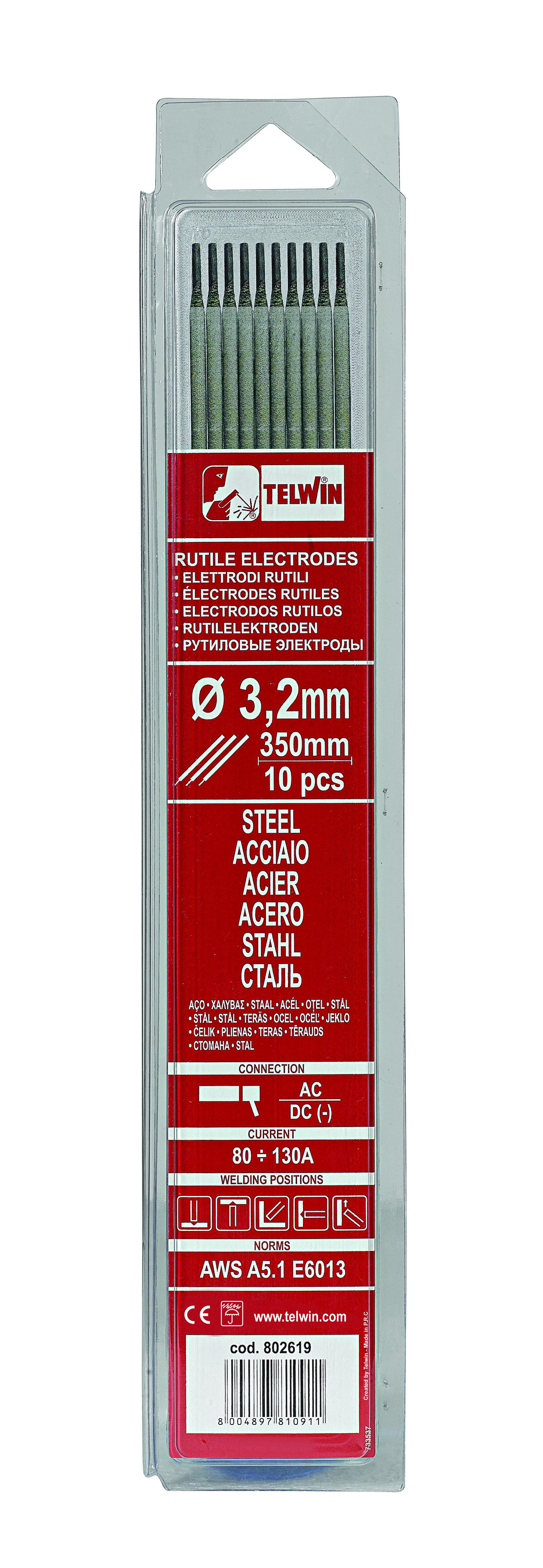 Telwin Rutile elektroder Ø 3,2 x 300 mm, 10 stk