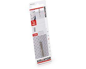 Kreator HSS metalbor 1,5 mm - 3 stk.