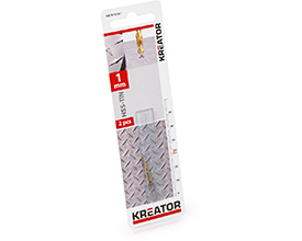Kreator HSS-Tin metalbor 1,0 mm - 2 stk.