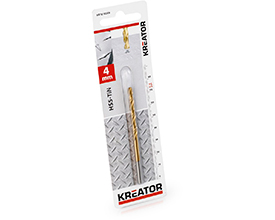 Kreator HSS-Tin metalbor 4,0 mm