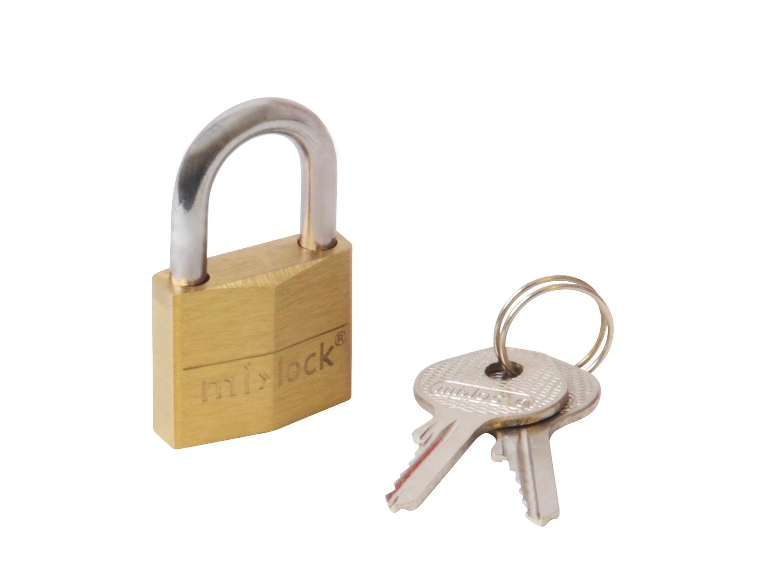 Mi||lock Hængelås messing - 30 mm.